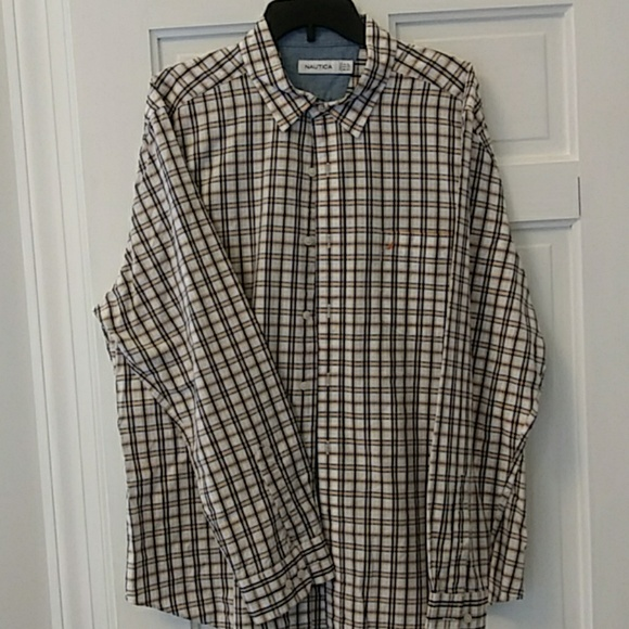 Nautica Other - Mens plaid dress shirt